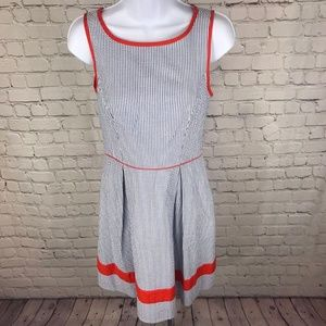 Jessica Simpson Dresses - Jessica Simpson Red Striped Fitted Waist Dress